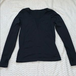 Fabletics Black Athletic Long Sleeve